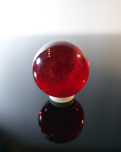telsey-372-red-transluscent-art-glass-handmade-paperweight
