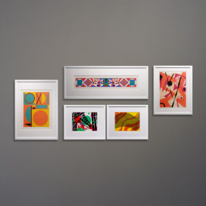 wall-of-five-silkscreen-prints